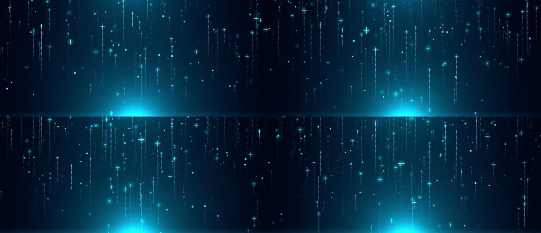 宽屏科技感粒子上升AE模板
