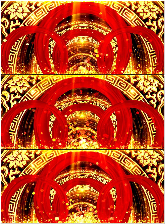 大氣中國風紅綢喜慶節日慶典背景