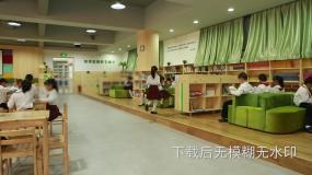 学校图书馆小学生阅读看书视频素材包