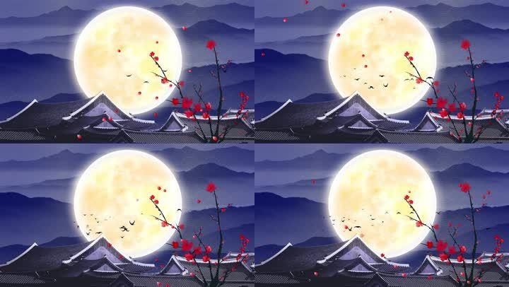 古典明月背景2-2