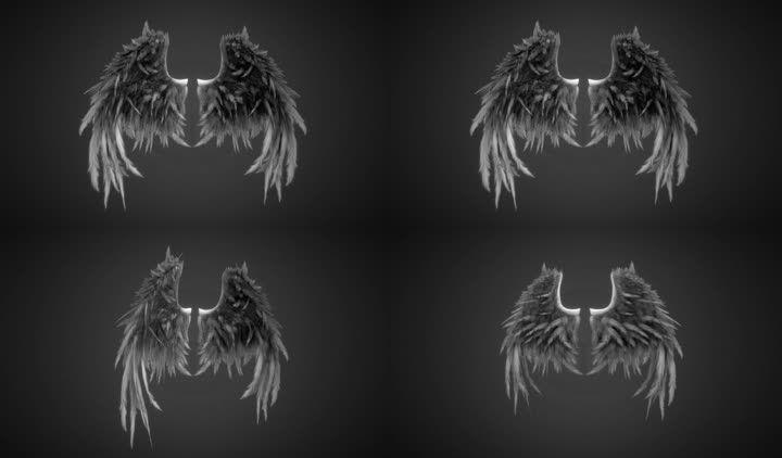 翅膀三维模型(fbx)