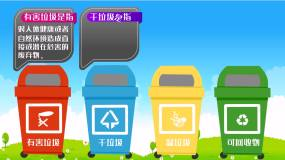 垃圾分类MG卡通动漫动画AE模板AE模板