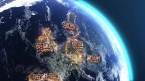 #地球转动+动态地图AE模板