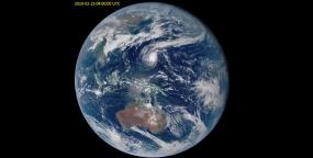 地球气象云图视频视频素材