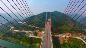贵州桥梁航拍岩架大桥航拍视频素材