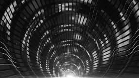 震撼金属质感拱门穿梭视频素材视频素材