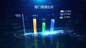 科技柱状图AE模板
