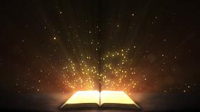 梦幻浪漫圣经书籍翻页循环视频视频素材