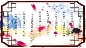 中华孝道古典中国风书法背景视频素材