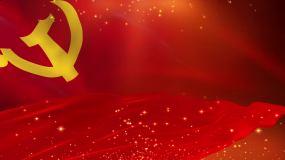 党旗大气背景循环视频素材
