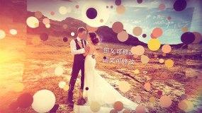 粒子笔刷婚礼相册模板AE模板
