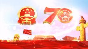 大氣建國70周年黨政片頭AE模板