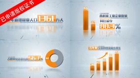 科技简洁企业数据图表字幕AE模板