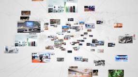 商务照片墙汇聚LG总合成AE模板