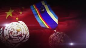 国旗旗帜和UN徽章视频素材