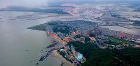 广东阳西沙扒湾航拍视频素材