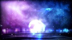 4k梦幻白鲸星空背景视频素材
