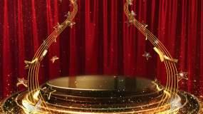 星光粒子舞台颁奖台晚会背景视频素材