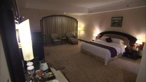 酒店、高端酒店、客房、高档餐厅视频素材