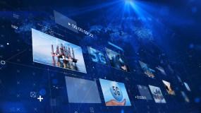 藍色大氣科技企業宣傳圖文片頭AE模板AE模板