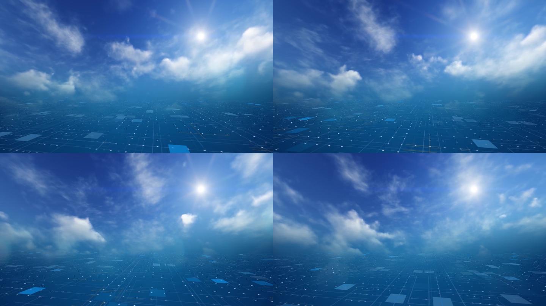 科技云背景