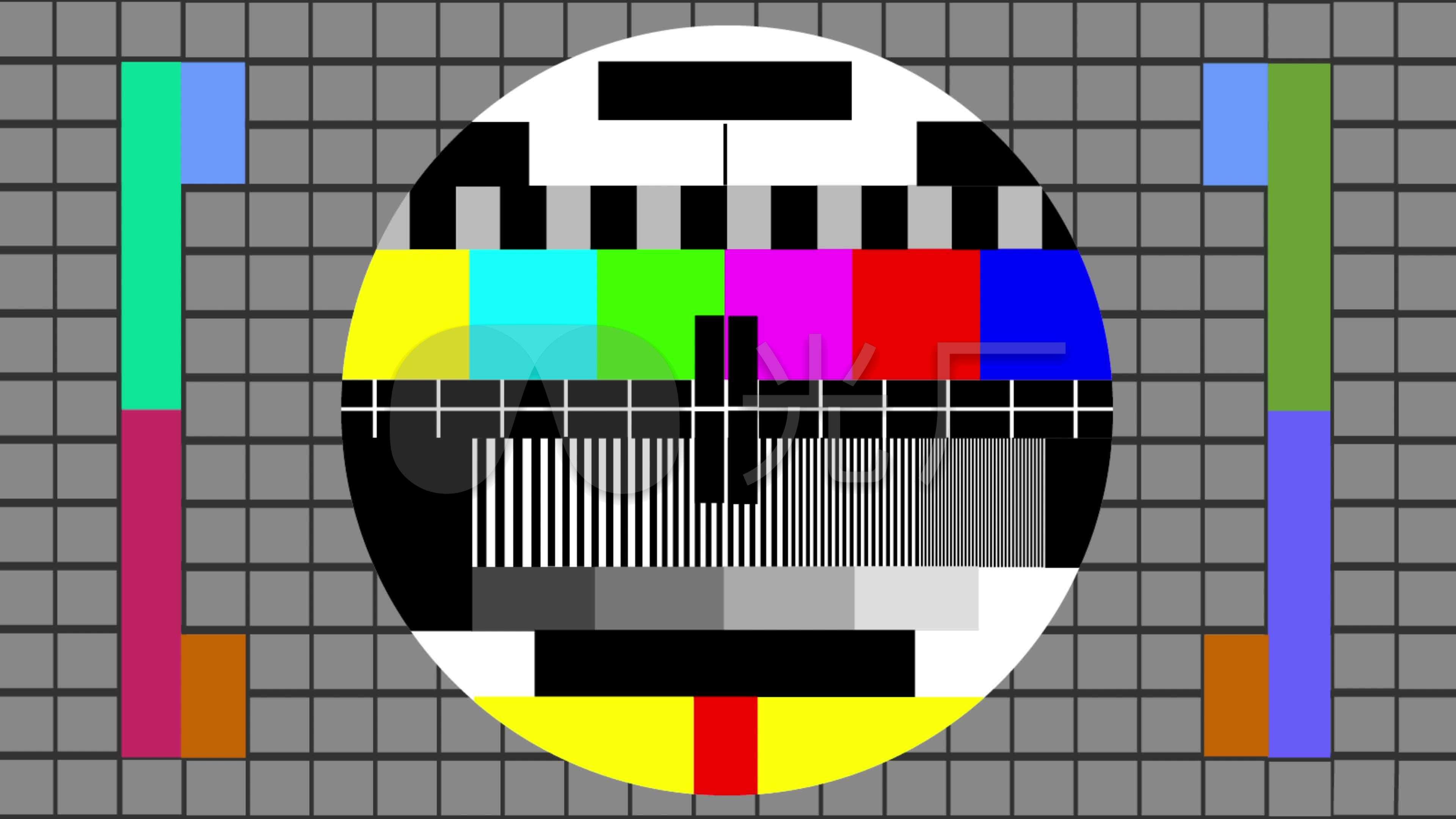液晶电视屏幕检测_电视无信号两款_3840X2160_高清视频素材下载(编号:3849749)_影视包装 ...