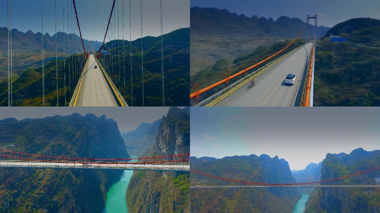北盘江大桥震撼航拍贵州大桥
