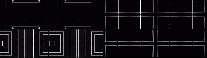 超宽屏-黑白抽象几何线条方块街舞爵士舞