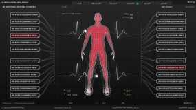 医学全息hud人机交互界面视频素材
