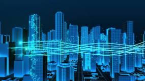 永利官网网址科技线框城市穿梭生长ae模板AE模板