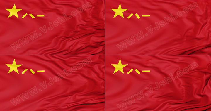 4K八一军旗(无缝循环)