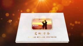 (原创)金色大气三维立体折纸效果相册AE模板