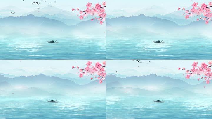 水墨山水背景6