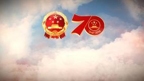 大气祖国70华诞片头无字版视频素材视频素材