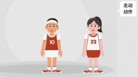 二维MG动画人物卡通穿校服篮球服篮球男其他