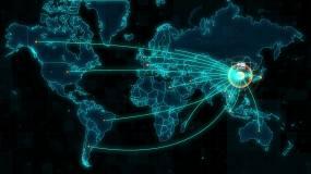 中国科技连线覆盖全球AE模板