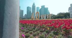 改革开放40周年深圳的街道高楼视频素材包