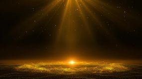 大气晚会颁奖光线粒子背景视频素材