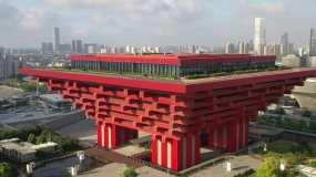 4K原素材-航拍中国上海世博园区视频素材
