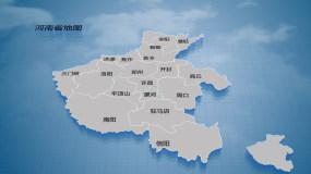 河南省企业分布规划地图介绍AE模板