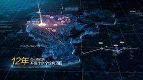 科技地图长春AE模板