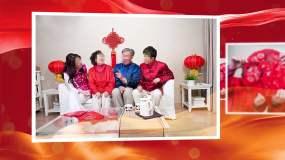 红色喜庆祝寿开场AE模板AE模板