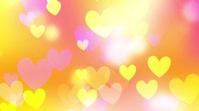 浪漫爱心背景循环视频素材