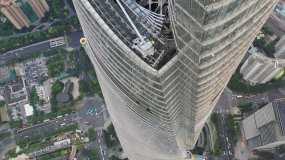 4K原素材-航拍上海中心大厦塔冠永利官网网址是多少