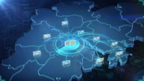 佛山辐射广港澳地图AE模板
