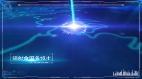 原创大气中国科技辐射地图AE模板