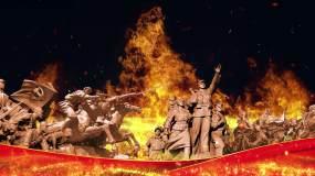烈士雕塑英雄纪念碑4k(01)-无缝循环视频素材