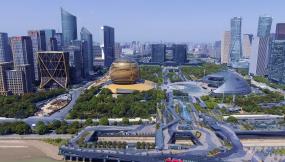 4K航拍钱江新城-鸟瞰钱江新城-杭州视频素材