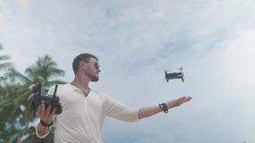 男士使用无人机视频素材