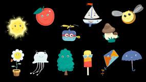 12個卡通節目點綴元素視頻素材包